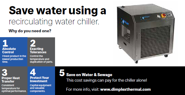 Save water using a recirculating water chiller